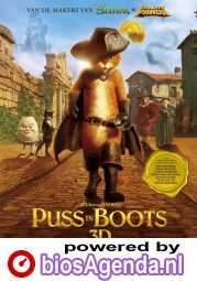 Puss in Boots poster, copyright in handen van productiestudio en/of distributeur